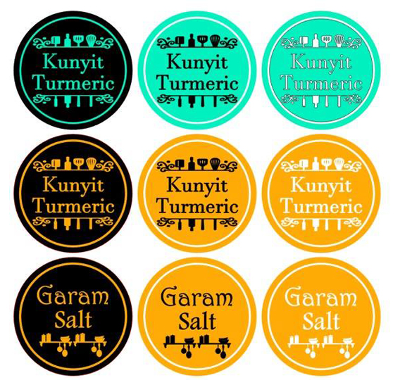 Custom Sticker Label Barang Dapur Bahan Masak Rempah